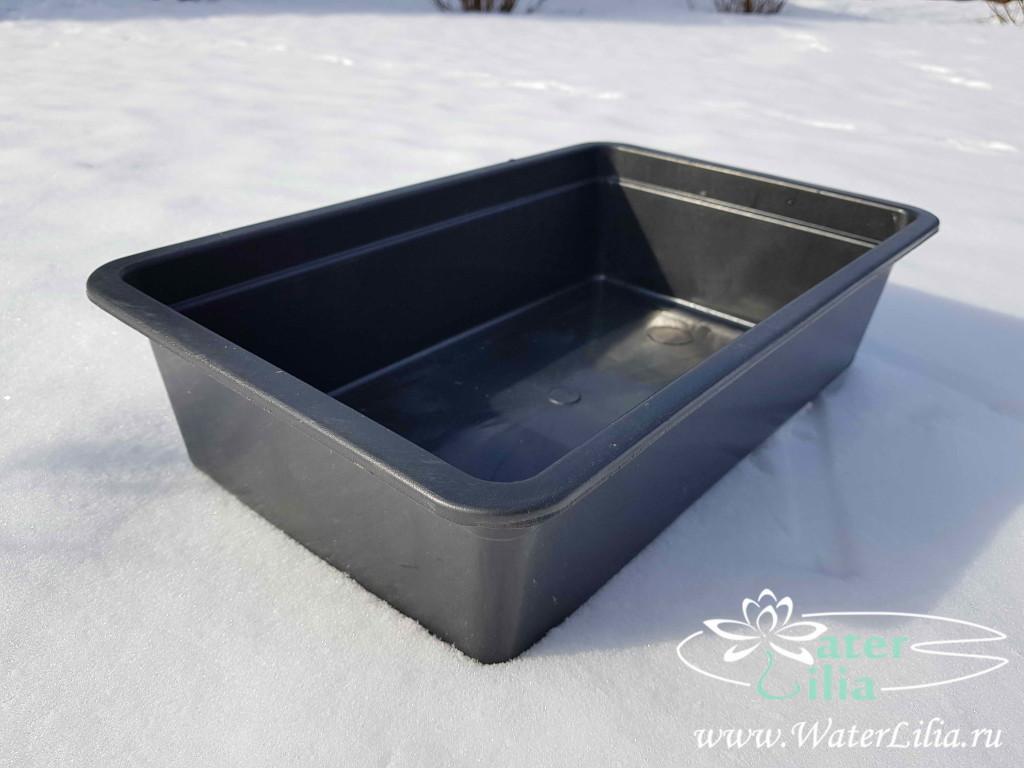 Купить емкость, контейнер для посадки нимфей 6 литров прямоугольная
